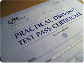 Practical Driving Test Pass Certificate